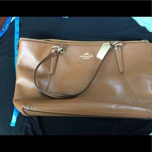 Coach Brown Leather Tote
